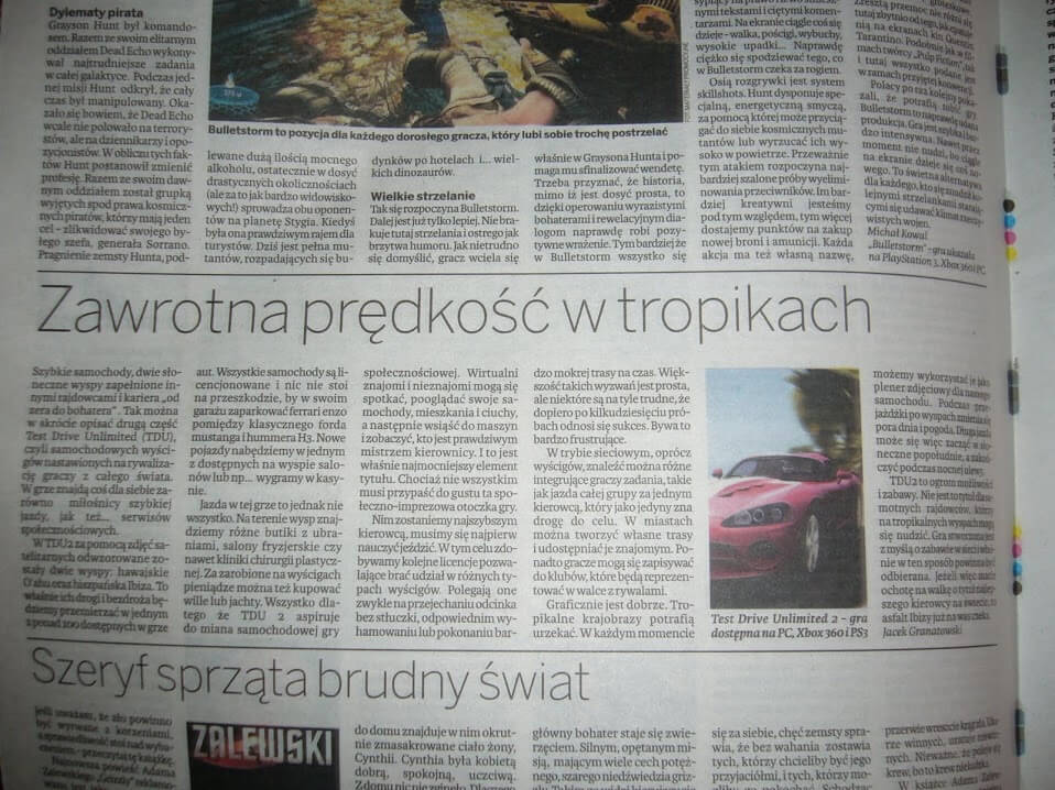 tdu 2 recenzja w dzienniku baltyckim