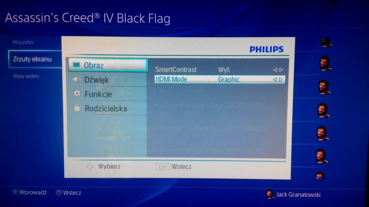 opcje ps4 tv