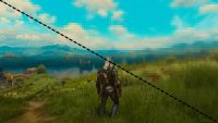 Witcher 3 pixelated