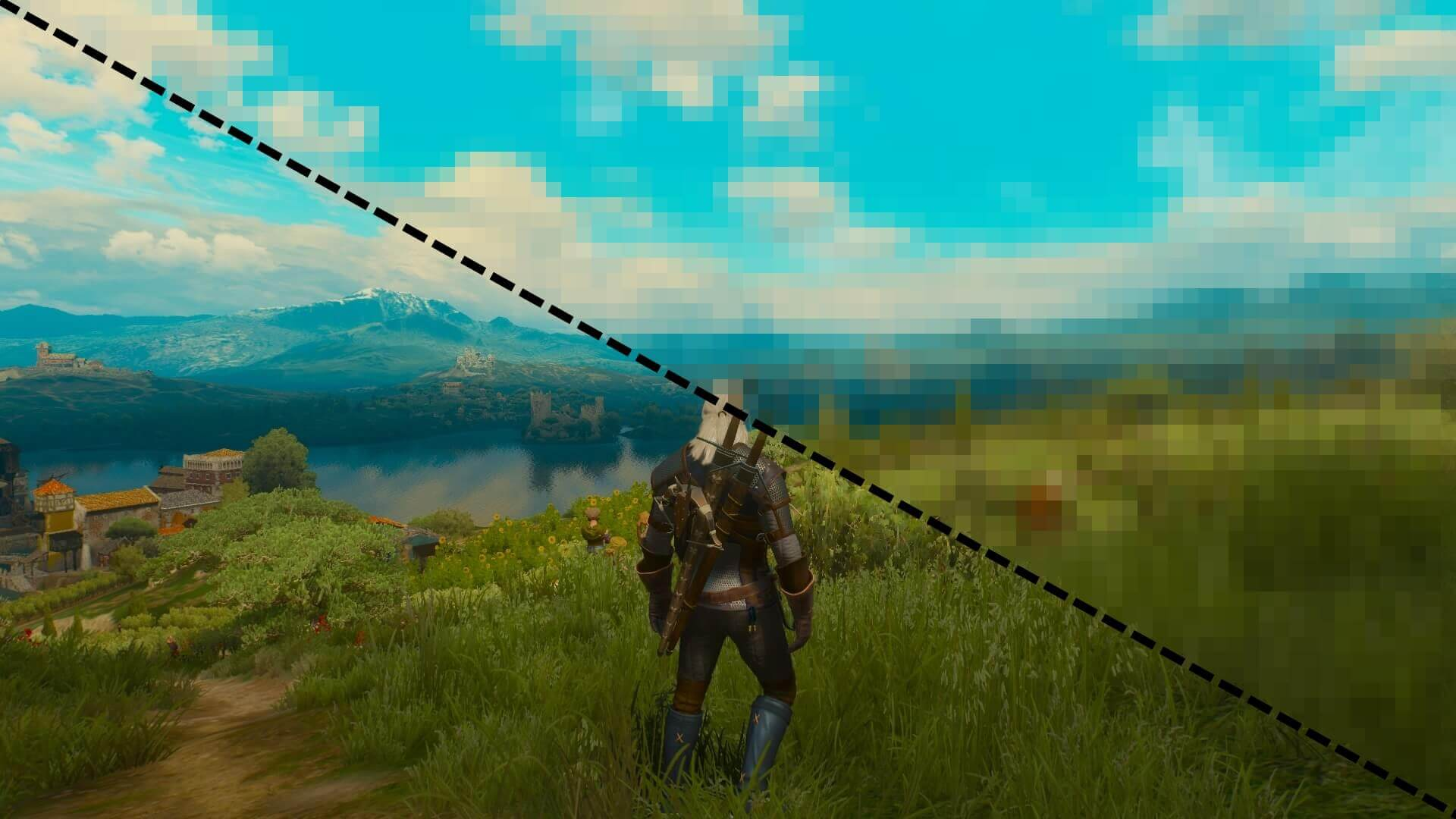 Witcher 3 pixelated